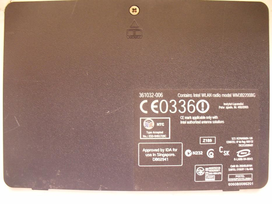 Capac memorii si placa retea wifi laptop HP Compaq nx6110