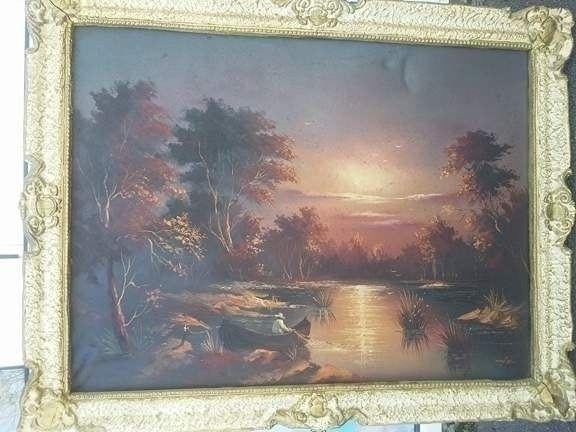 Tablou original pictat pe panza semnat si datat,in perfecta stare
