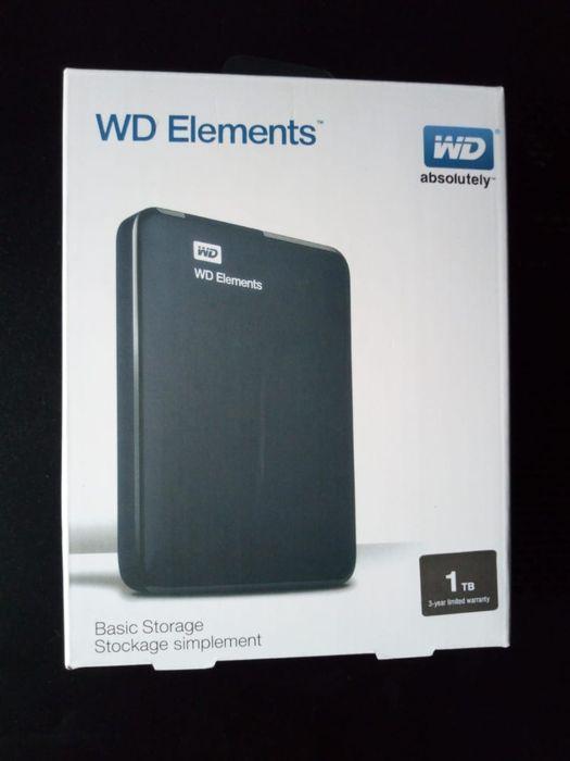 Disco Rígido Externo 1T WD 3.0 na caixa