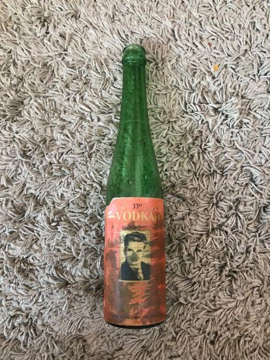 Sticla Goala de Colectie Vodka Nicolae Ceausescu 25.12.1989 33 Grade !