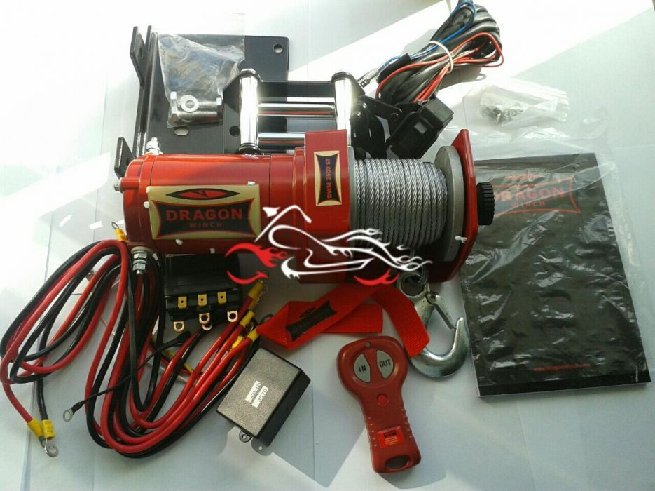 Troliu Atv Dragon Winch 2500 LBS Bucuresti - imagine 1
