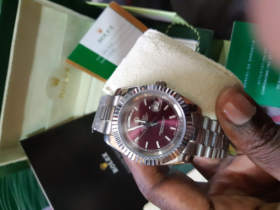 Rolex Automático Vidro Safira clássico