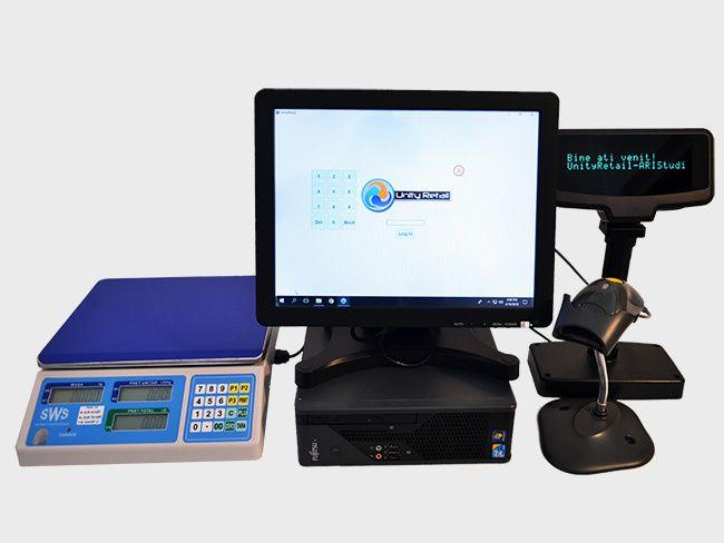 Sistem POS Magazin PC+Touchscreen+Soft Vanzare Gestiune UnityRetail