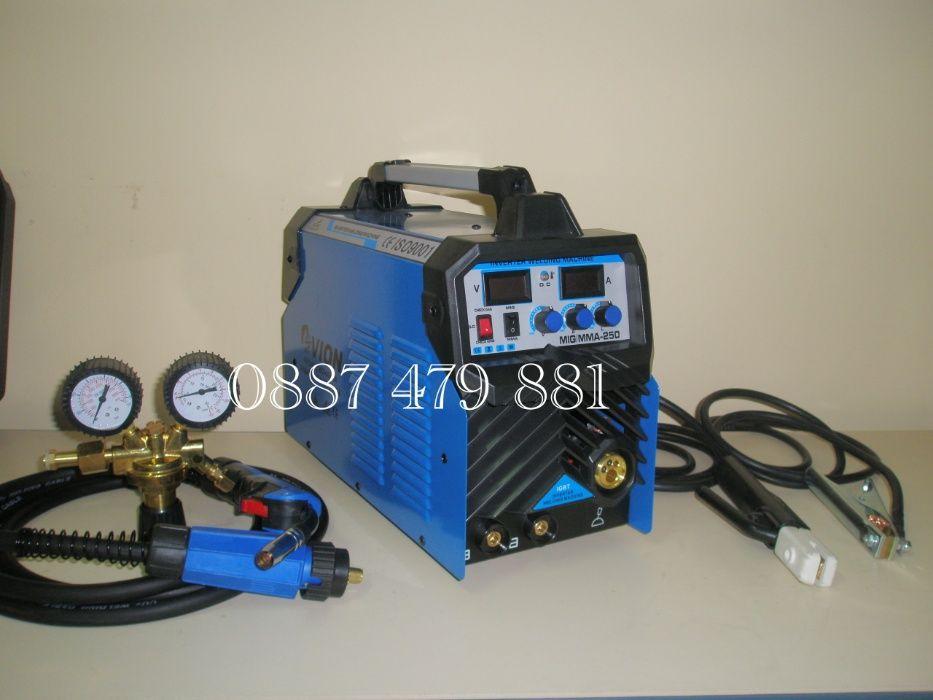 MIG/MMA 250 АМПЕРА Професионално Телоподаващо с Електрожен