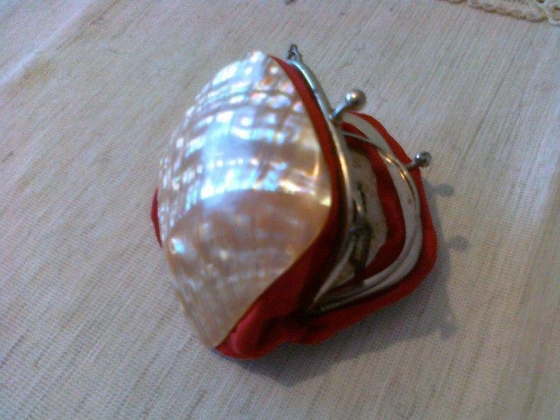 Дамска чантичка със седеф