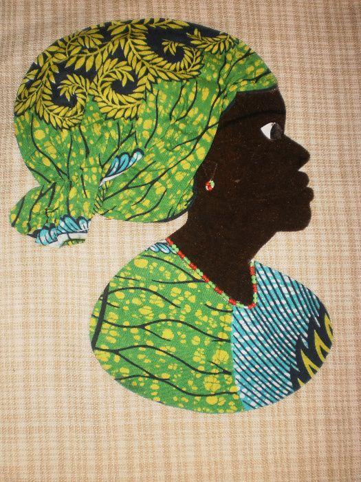 Африканка-картина от текстил върху текстил-варианти гр. София - image 6