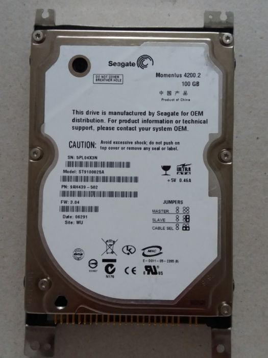 Hard disk Seagate 100GB