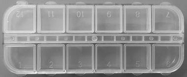 Cutie Compartimentata - 12 Compartimente - 130x53x12mm