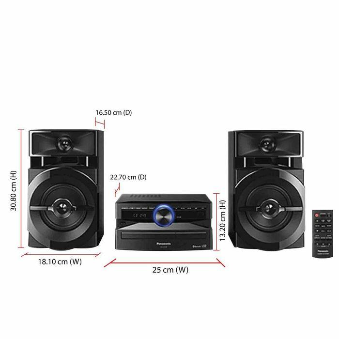Sistema de som PANASONIC sc-ux100 Bluetooth USB AUX RADIO CD