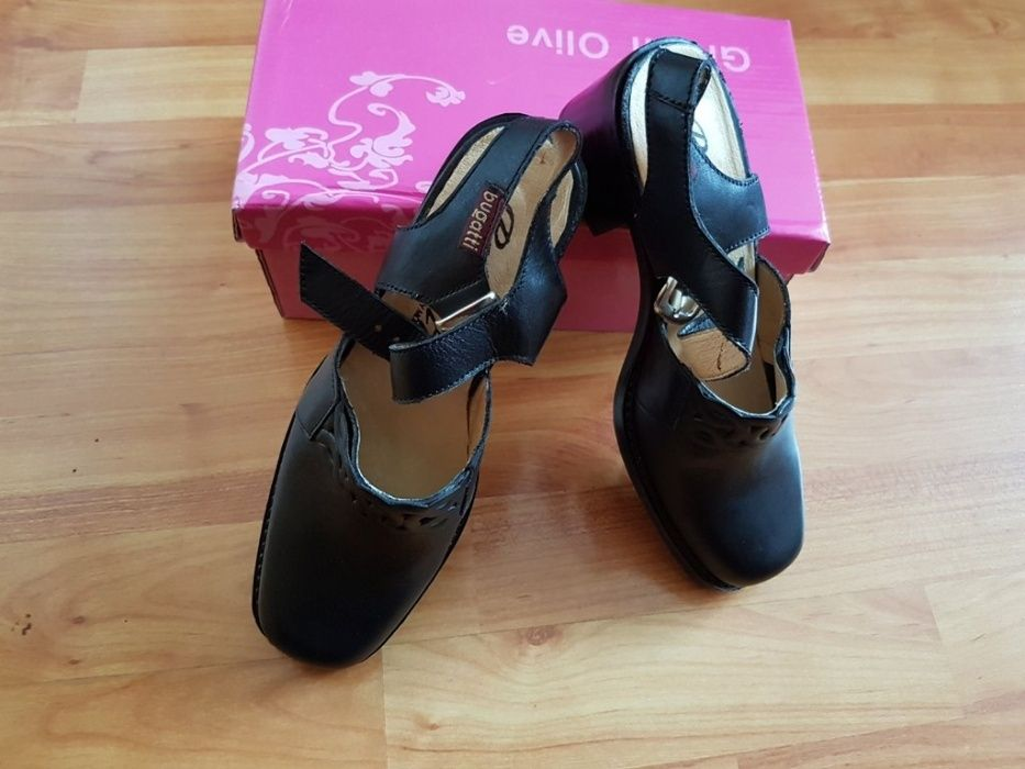 Bugatti, нови черни обувки, N 37