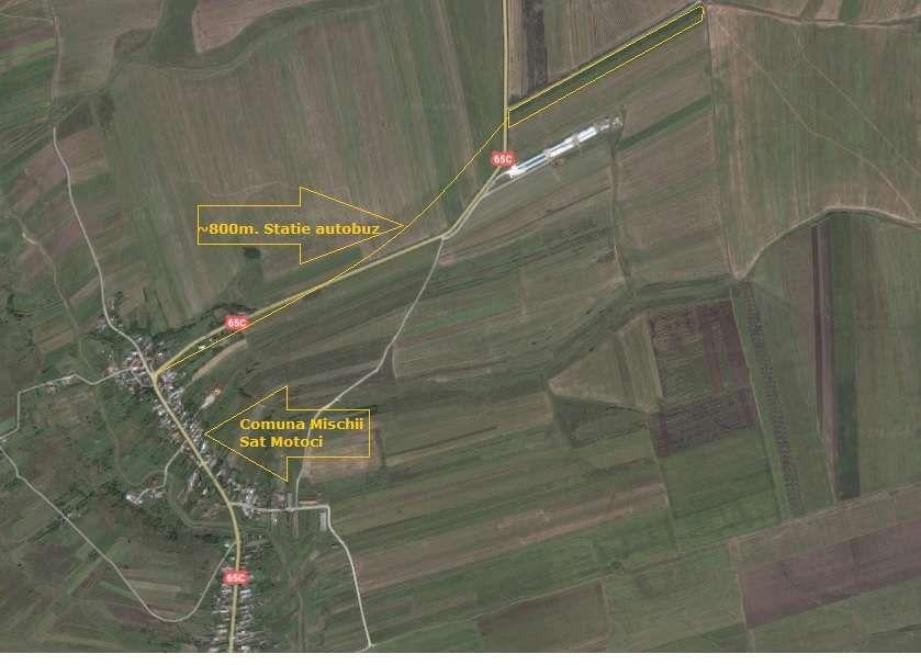 Teren 3,9 ha sat Motoci, intre Craiova si Horezu DN 65C