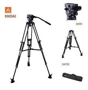 Trepied aluminiu E-Image EG-05A2 cap video fluid GH05 inaltime 190 cm