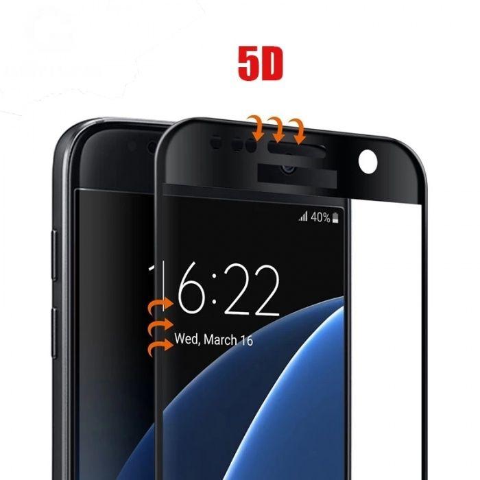 5D Стъклен протектор за Samsung A5 J5 J7 Huawei P20 Pro Lite P10 4D 3D
