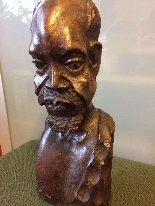 Sculptura de lemn statueta de lemn de esenta tare TEAK inaltime 42