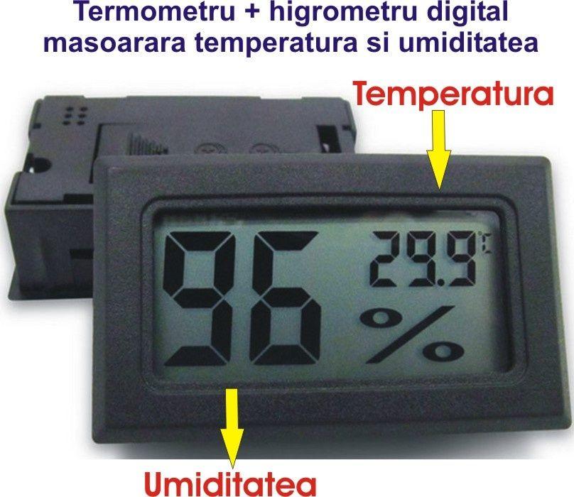 Senzor digital de temperature si umiditate! Termometru + Higrometru!!