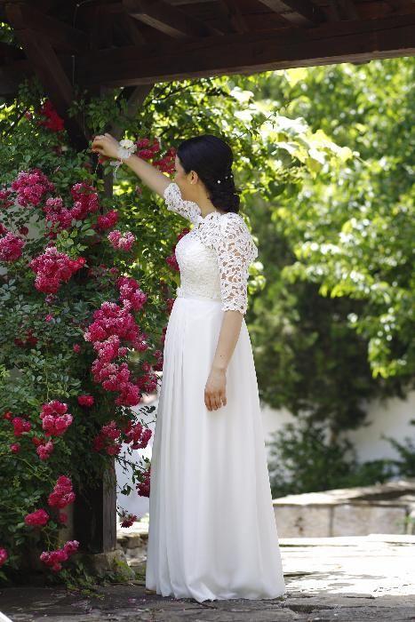 Удобна, лека, практична сватбена рокля