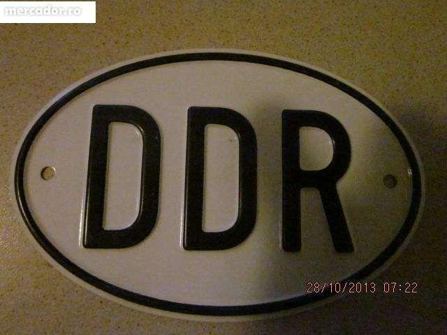 Placa metalica veche ,auto din fostul DDR