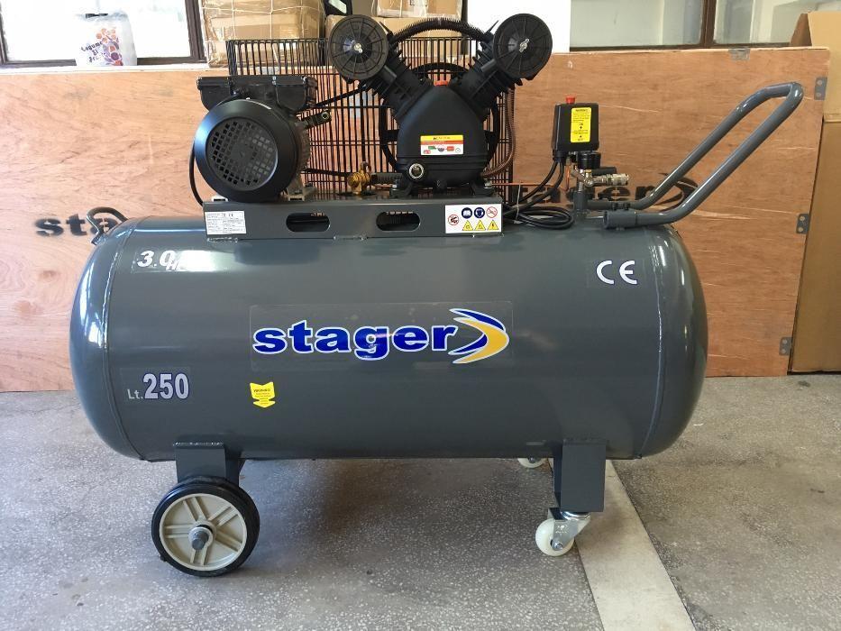 Compresor Aer Profesional Stager HMV 0.25/250, 2.2KW, 250L/min, 250L. Mogosoaia - imagine 1