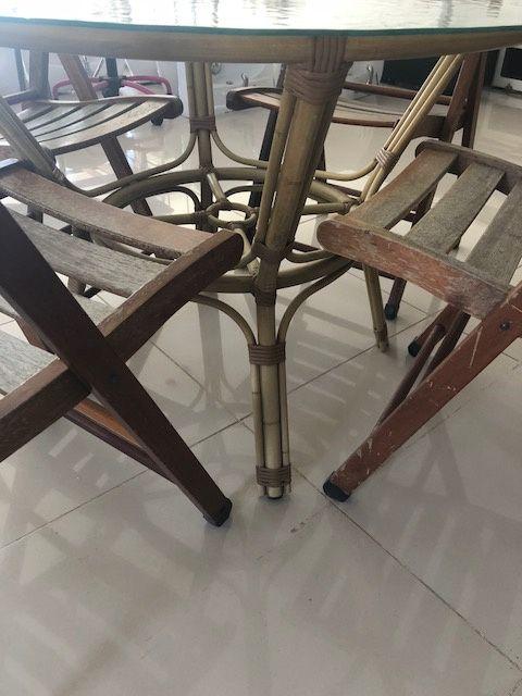 Conjunto Mesa Terraço e 4 Cadeiras