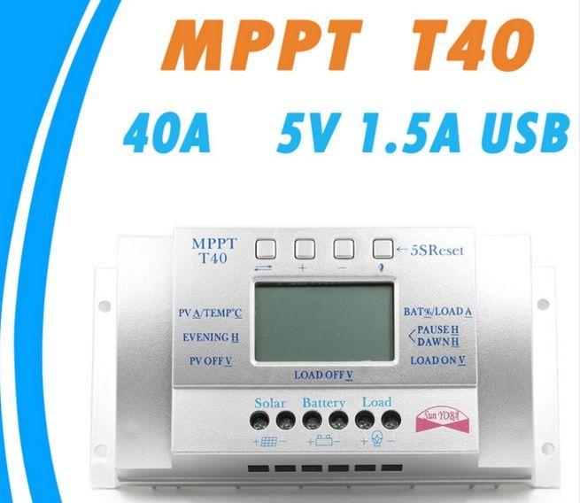 Regulator/Controller T 40A LCD Panouri solar fotovoltaice Controler