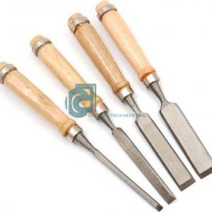 Комплект длета плоски, дървена дръжка 6-12-18-24мм.