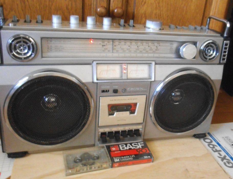 RADIO CASETOFON CROWN CSC-850L Hifi Stereo Sound System/ 20cm Speakers