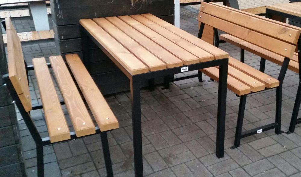 Баварски комплект, маса и пейки.