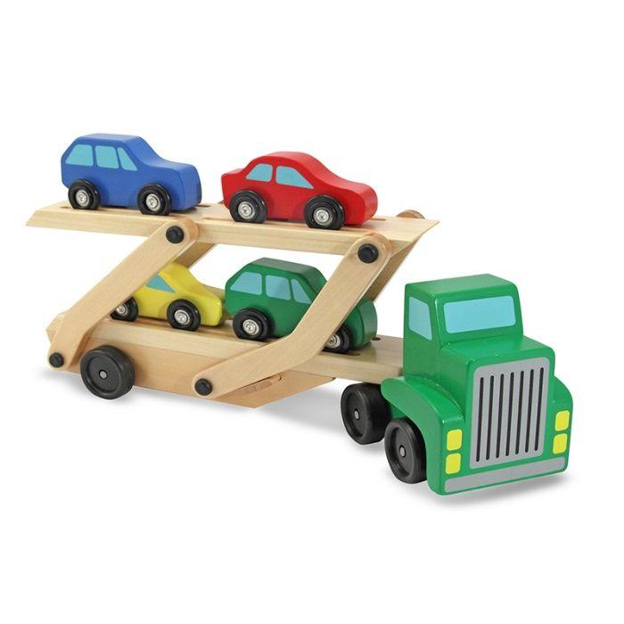 Деревянный Автовоз, деревянные игрушки развивашки камаз грузовик
