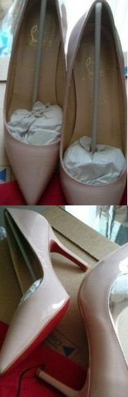 Pantofi dama stiletto marime 41,CL, noi, nude,toc 8 cm.
