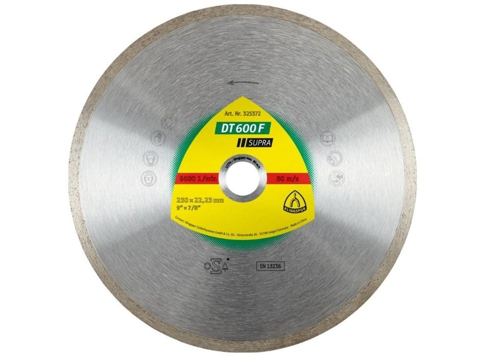 Disc diamantat continuu 230 mm DT600F Klingspor Profesional
