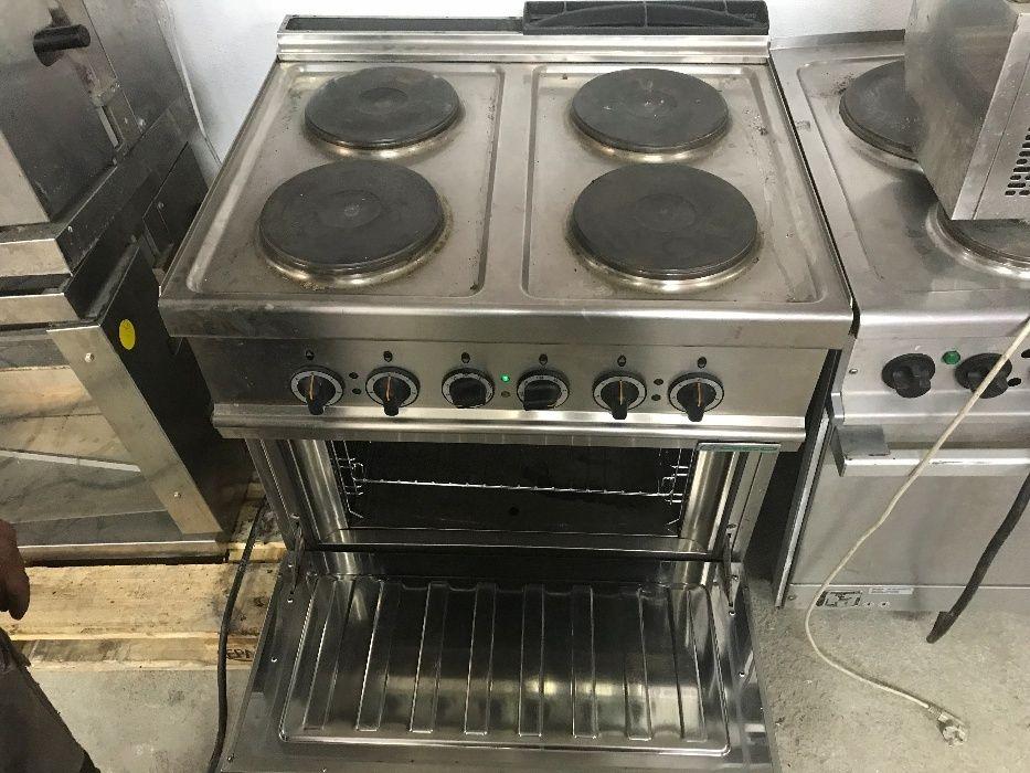 професионална електрическа готварска печка с конвекторна фурн