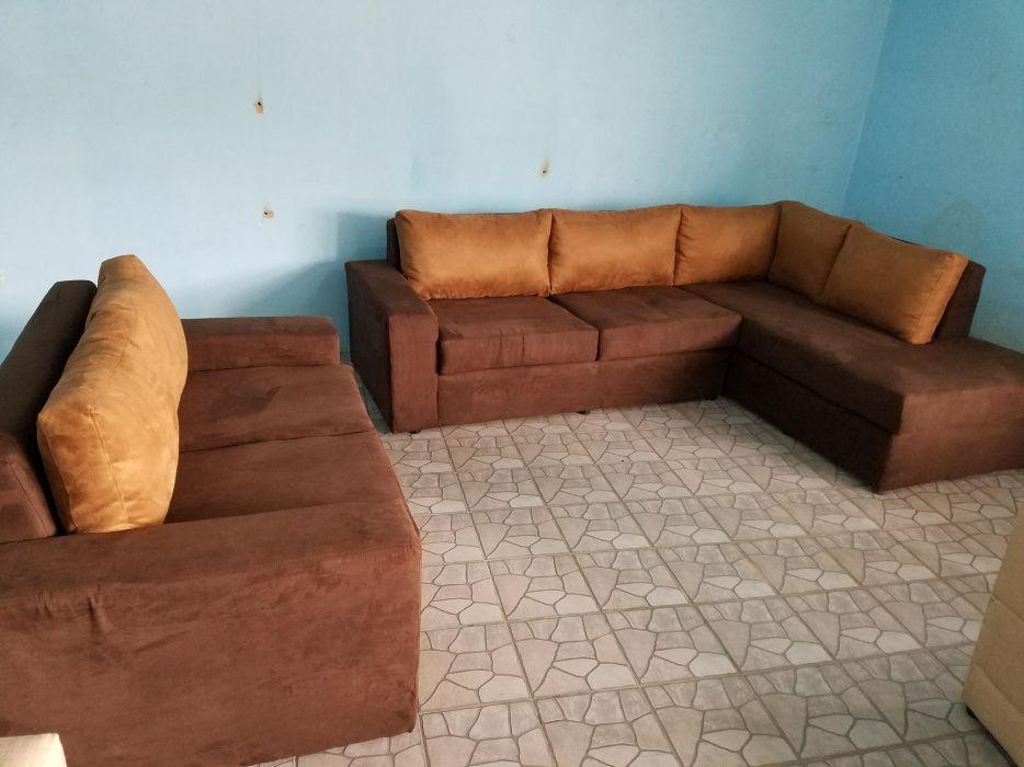 Conjunto de sofá espaçoso