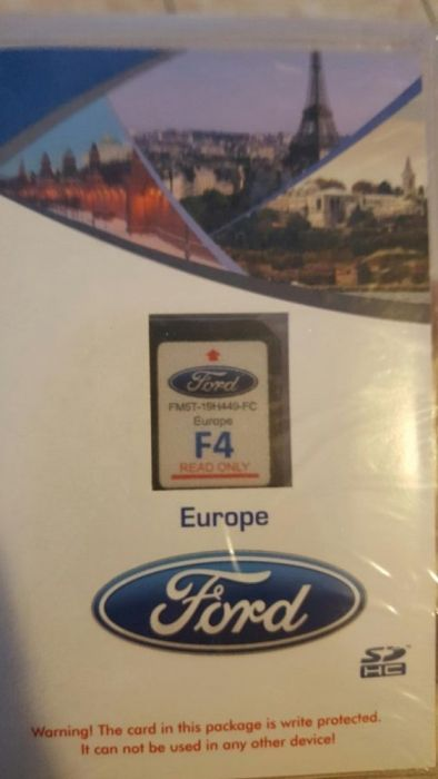 Card navigatie Ford f4 Europa