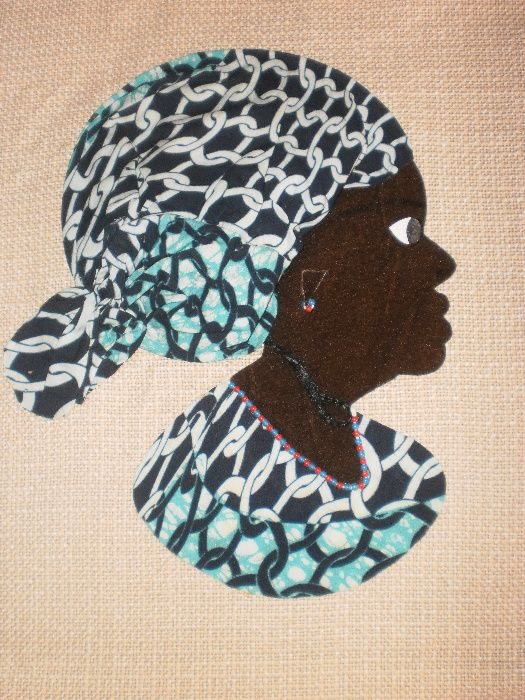 Африканка-картина от текстил върху текстил-варианти гр. София - image 9