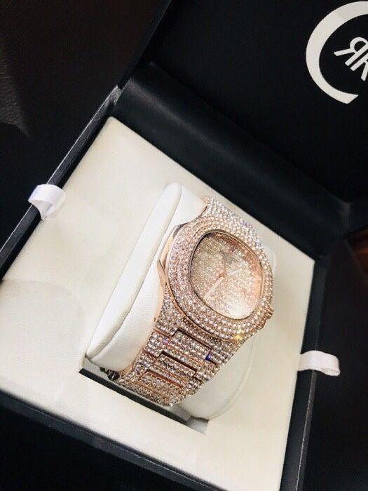 Relógio da Patek Phillippe Rose VVS Crystal