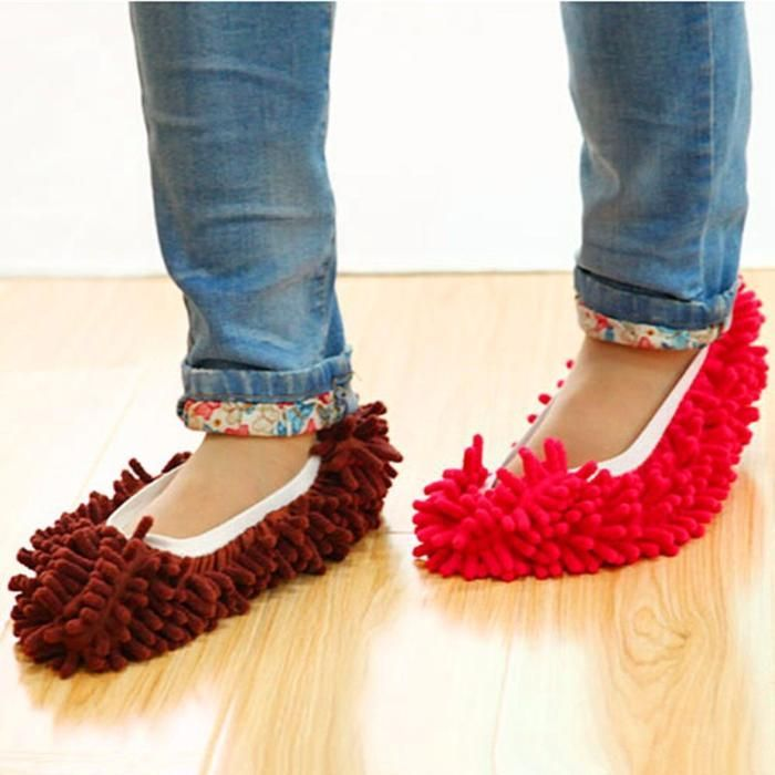 Mop papuci / curatenie / botosi / soseta din microfibra pt curatenie