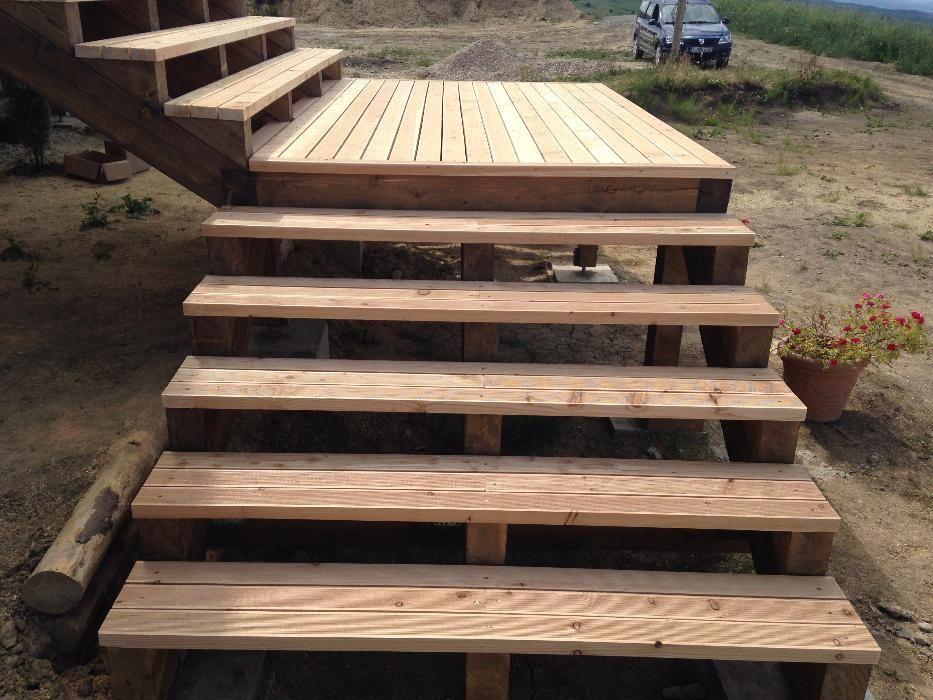 Deck lemn podea exterior striata