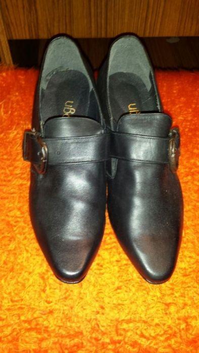 Черни кожени обувки- естествена кожа- нови