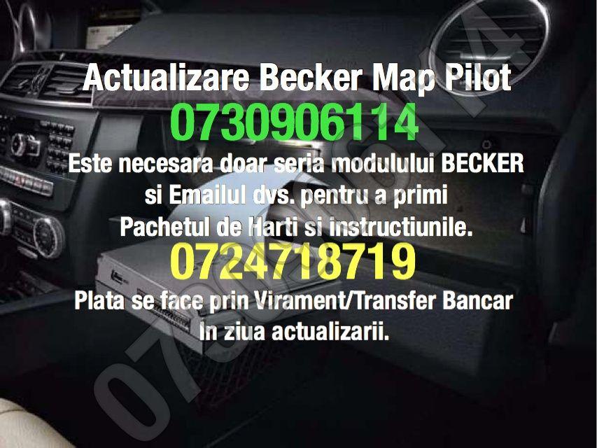 Actualizare harti 2018 Becker Map Pilot V15 - Mercedes c e ml gl sl