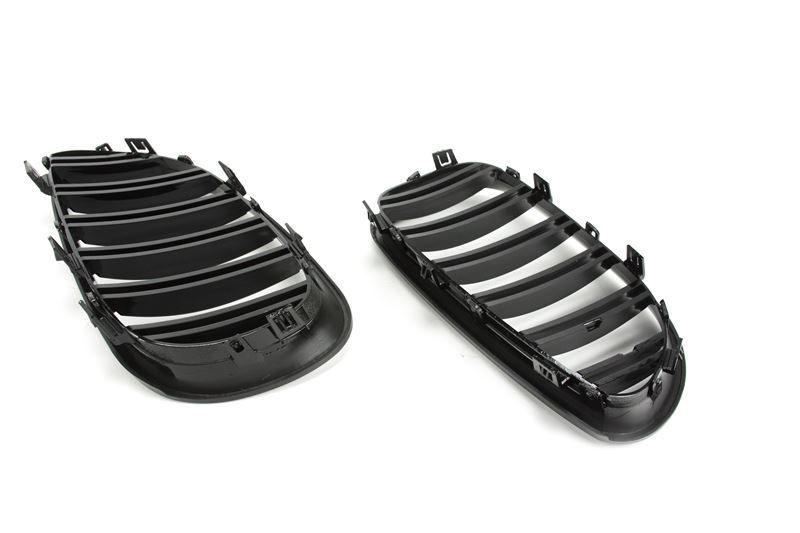 Grile duble BMW seria 5 E60 E61 M5 look - negru LUCIOS Timisoara - imagine 4
