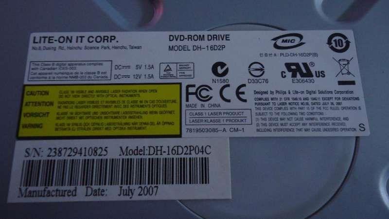 Продавам DVD Rom на LiteOn в отлично състояние