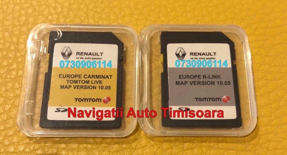 Renault Carminat R-LINK Tomtom Live Harti GPS Clio Koleos Megane 2019