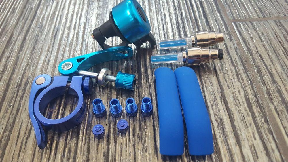 Accesori albastre bicicleta