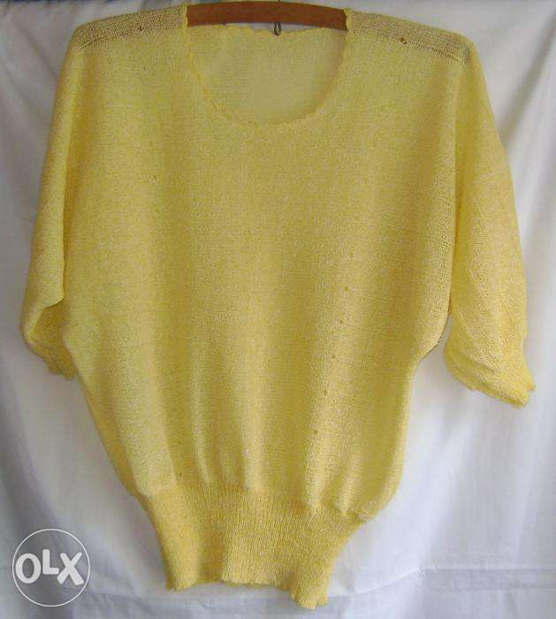 "Bluză vintage galbenă, fir ""Miana"""