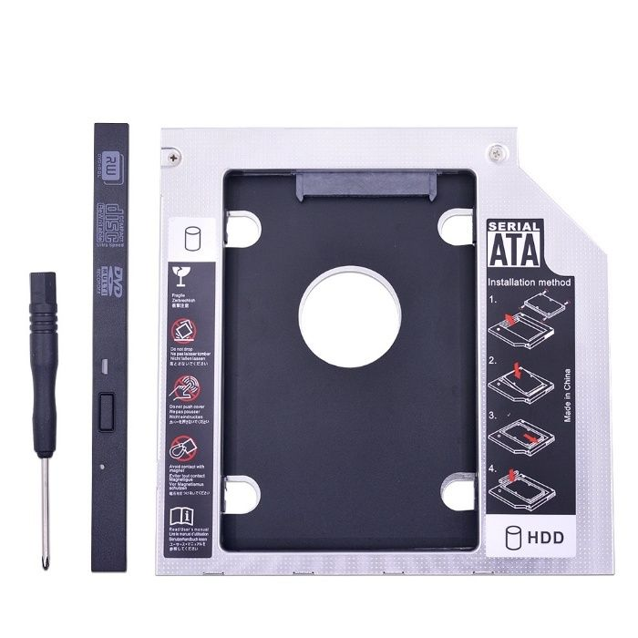 Rack HDD/SSD caddy suport pt unitate optica laptop 12.7mm SATA 3
