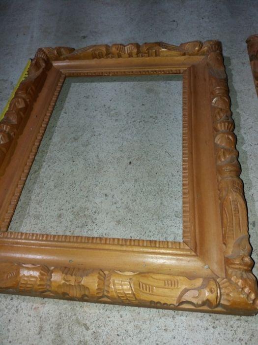Rama tablou/ oglinda sculptate sculptura stil Baia Mare
