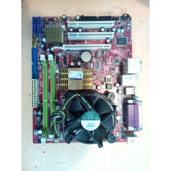 kit placa de baza  msi 7592 ,2 x ddr 2 , dual core  e5200 2,50ghz ,
