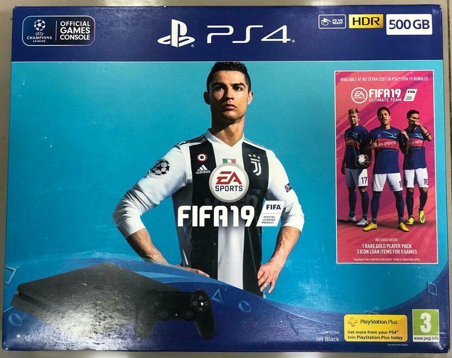 PS4 500Gb + FIFA 19 selado Alto-Maé - imagem 1