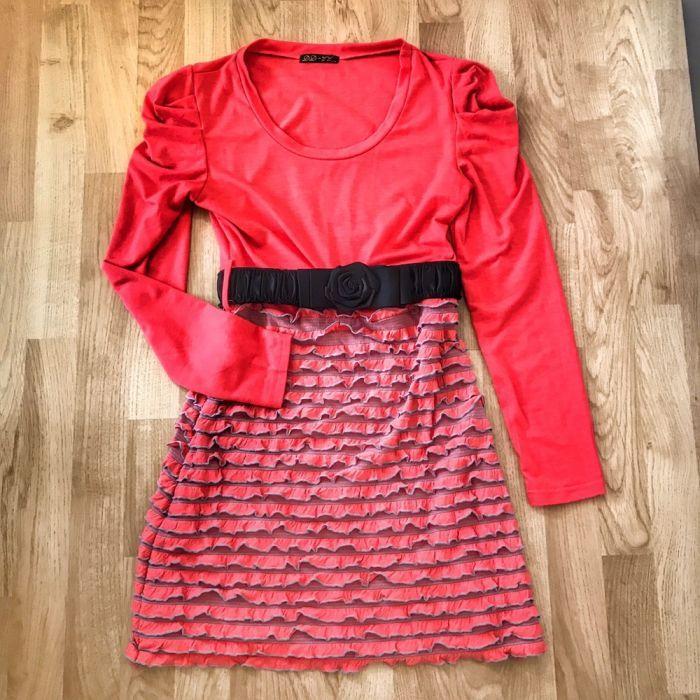 Пролетно-лятна къса рокля с коланче