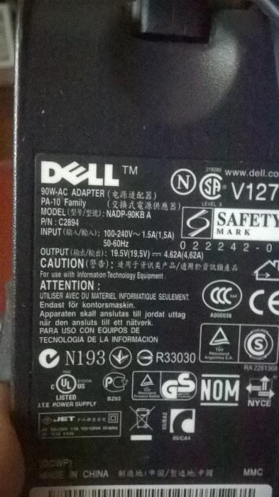 Alimentator laptop Dell